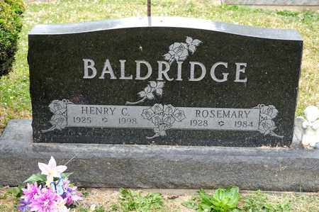 BALDRIDGE, ROSEMARY - Richland County, Ohio | ROSEMARY BALDRIDGE - Ohio Gravestone Photos
