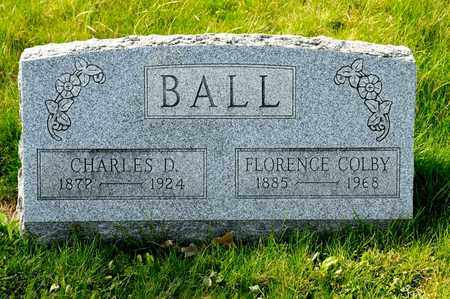 COLBY BALL, FLORENCE - Richland County, Ohio | FLORENCE COLBY BALL - Ohio Gravestone Photos