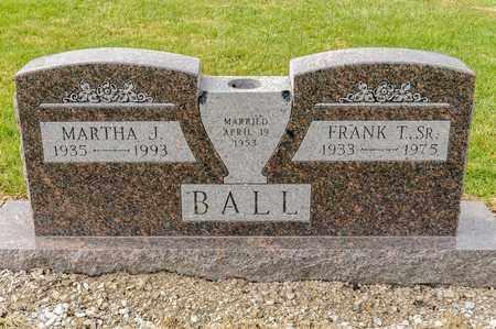 BALL SR, FRANK T - Richland County, Ohio | FRANK T BALL SR - Ohio Gravestone Photos