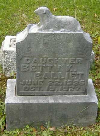 BALLIET, BETTY K. - Richland County, Ohio   BETTY K. BALLIET - Ohio Gravestone Photos