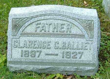 BALLIET, CLARENCE C. - Richland County, Ohio   CLARENCE C. BALLIET - Ohio Gravestone Photos