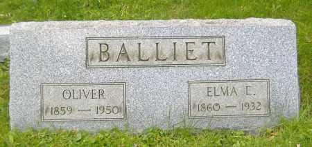 BALLIET, OLIVER S. - Richland County, Ohio   OLIVER S. BALLIET - Ohio Gravestone Photos