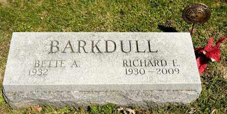 BARKDULL, RICHARD E - Richland County, Ohio   RICHARD E BARKDULL - Ohio Gravestone Photos