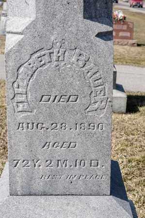 BAUER, ELIZABETH - Richland County, Ohio | ELIZABETH BAUER - Ohio Gravestone Photos