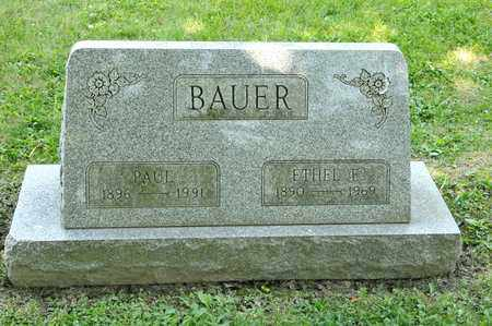 BAUER, ETHEL E - Richland County, Ohio | ETHEL E BAUER - Ohio Gravestone Photos
