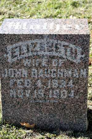BAUGHMAN, ELIZABETH - Richland County, Ohio | ELIZABETH BAUGHMAN - Ohio Gravestone Photos