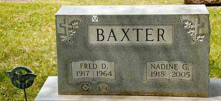 BAXTER, FRED D - Richland County, Ohio | FRED D BAXTER - Ohio Gravestone Photos