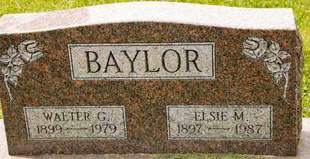 BAYLOR, WALTER G - Richland County, Ohio | WALTER G BAYLOR - Ohio Gravestone Photos