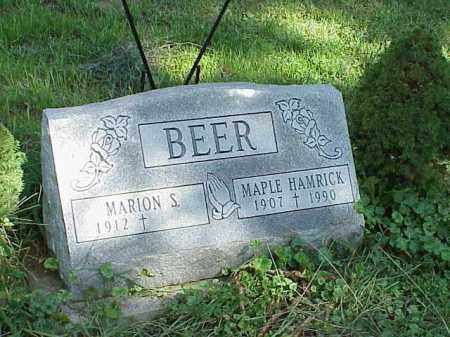 BEER, MAPLE HAMRICK - Richland County, Ohio | MAPLE HAMRICK BEER - Ohio Gravestone Photos