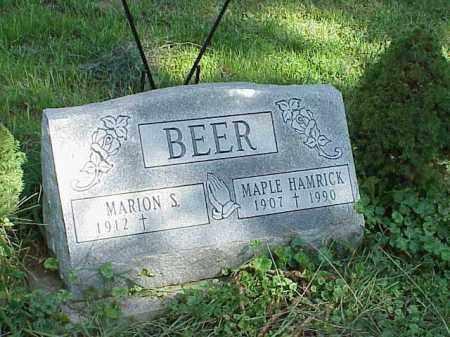 BEER, MARION S. - Richland County, Ohio | MARION S. BEER - Ohio Gravestone Photos