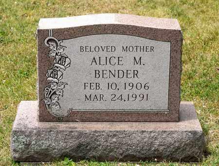 BENDER, ALICE M - Richland County, Ohio | ALICE M BENDER - Ohio Gravestone Photos