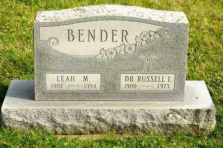 BENDER, RUSSELL I - Richland County, Ohio | RUSSELL I BENDER - Ohio Gravestone Photos