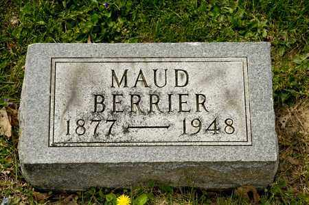 BERRIER, MAUD - Richland County, Ohio | MAUD BERRIER - Ohio Gravestone Photos