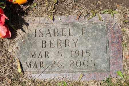 BERRY, ISABEL F - Richland County, Ohio | ISABEL F BERRY - Ohio Gravestone Photos