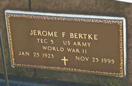 BERTKE, JEROME F - Richland County, Ohio | JEROME F BERTKE - Ohio Gravestone Photos