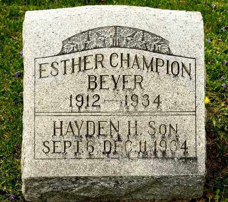 CHAMPION BEYER, ESTHER - Richland County, Ohio | ESTHER CHAMPION BEYER - Ohio Gravestone Photos
