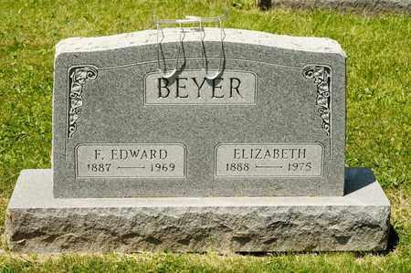BEYER, F EDWARD - Richland County, Ohio | F EDWARD BEYER - Ohio Gravestone Photos