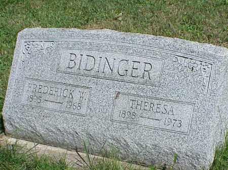 BIDINGER, THERESA - Richland County, Ohio | THERESA BIDINGER - Ohio Gravestone Photos