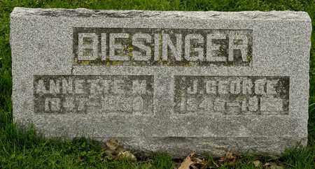BIESINGER, J GEORGE - Richland County, Ohio | J GEORGE BIESINGER - Ohio Gravestone Photos