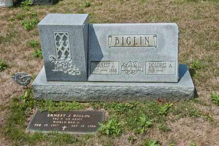 BIGLIN, ERNEST J - Richland County, Ohio | ERNEST J BIGLIN - Ohio Gravestone Photos