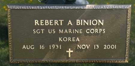 BINION, REBERT A - Richland County, Ohio | REBERT A BINION - Ohio Gravestone Photos