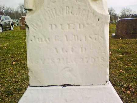 BLACKMAN, PHILO - Richland County, Ohio | PHILO BLACKMAN - Ohio Gravestone Photos