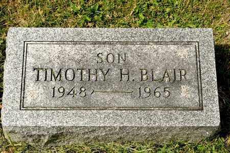 BLAIR, TIMOTHY H - Richland County, Ohio | TIMOTHY H BLAIR - Ohio Gravestone Photos