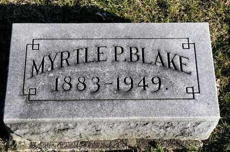 BLAKE, MYRTLE P - Richland County, Ohio | MYRTLE P BLAKE - Ohio Gravestone Photos