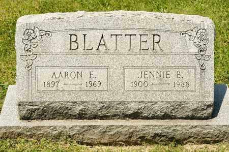 BLATTER, AARON E - Richland County, Ohio   AARON E BLATTER - Ohio Gravestone Photos