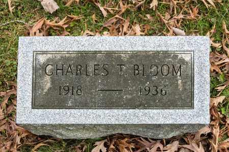 BLOOM, CHARLES T - Richland County, Ohio | CHARLES T BLOOM - Ohio Gravestone Photos