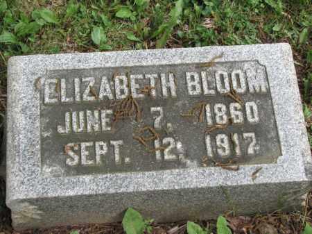 BLOOM, ELIZABETH - Richland County, Ohio | ELIZABETH BLOOM - Ohio Gravestone Photos