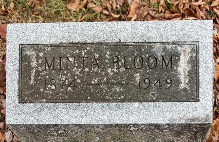 BLOOM, MINTA - Richland County, Ohio | MINTA BLOOM - Ohio Gravestone Photos