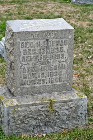 BOENAU, GEORGE H - Richland County, Ohio | GEORGE H BOENAU - Ohio Gravestone Photos