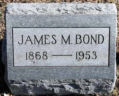 BOND, JAMES M - Richland County, Ohio   JAMES M BOND - Ohio Gravestone Photos