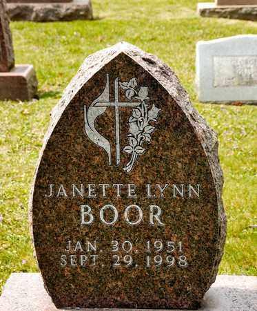 BOOR, JANETTE LYNN - Richland County, Ohio | JANETTE LYNN BOOR - Ohio Gravestone Photos