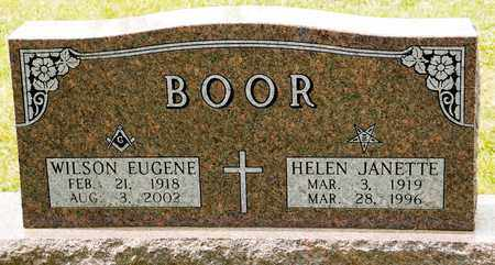 BOOR, WILSON EUGENE - Richland County, Ohio | WILSON EUGENE BOOR - Ohio Gravestone Photos