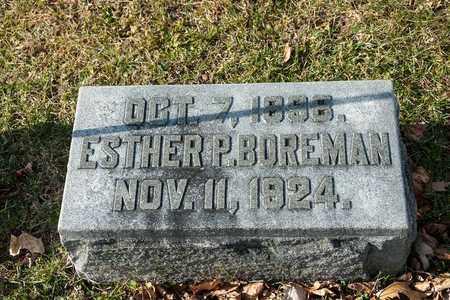 BOREMAN, ESTHER P - Richland County, Ohio | ESTHER P BOREMAN - Ohio Gravestone Photos