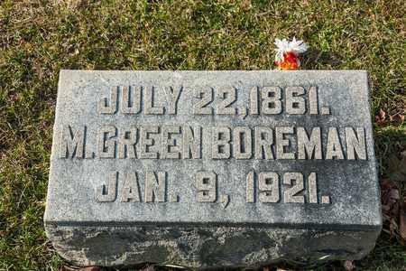 BOREMAN, M GREEN - Richland County, Ohio   M GREEN BOREMAN - Ohio Gravestone Photos