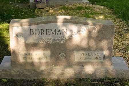 BOREMAN, WILLIAM R - Richland County, Ohio | WILLIAM R BOREMAN - Ohio Gravestone Photos
