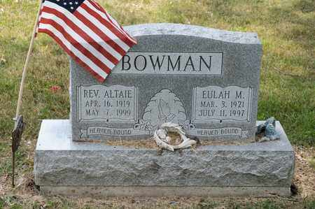BOWMAN, ALTAIE - Richland County, Ohio | ALTAIE BOWMAN - Ohio Gravestone Photos