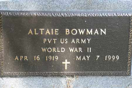 BOWMAN, ALTAIE - Richland County, Ohio   ALTAIE BOWMAN - Ohio Gravestone Photos