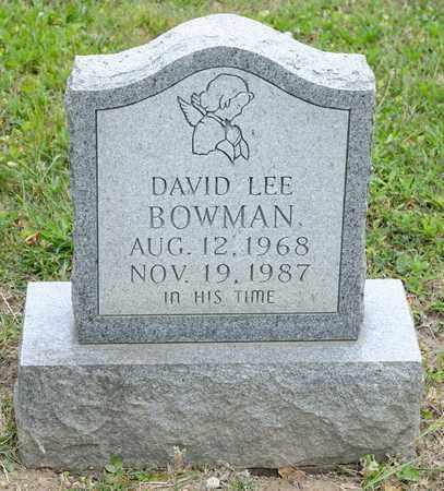 BOWMAN, DAVID LEE - Richland County, Ohio   DAVID LEE BOWMAN - Ohio Gravestone Photos
