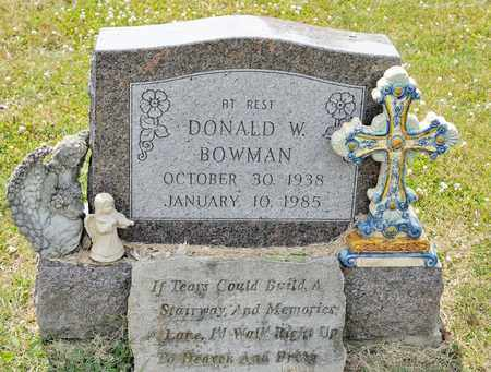 BOWMAN, DONALD W - Richland County, Ohio   DONALD W BOWMAN - Ohio Gravestone Photos