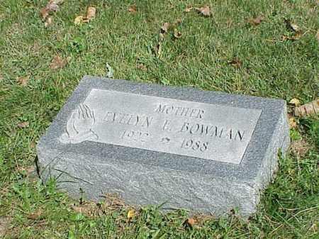 BOWMAN, EVELYN E. - Richland County, Ohio   EVELYN E. BOWMAN - Ohio Gravestone Photos