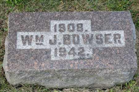 BOWSER, WILLIAM J - Richland County, Ohio | WILLIAM J BOWSER - Ohio Gravestone Photos