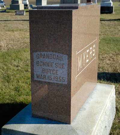 BOYCE, BONNIE SUE - Richland County, Ohio   BONNIE SUE BOYCE - Ohio Gravestone Photos