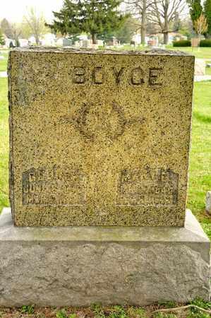 BOYCE, MARY E - Richland County, Ohio | MARY E BOYCE - Ohio Gravestone Photos