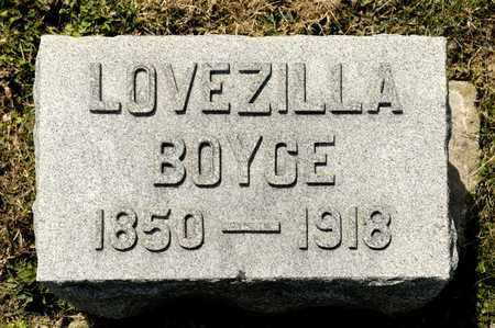 BOYCE, LOVEZILLA - Richland County, Ohio   LOVEZILLA BOYCE - Ohio Gravestone Photos