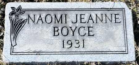 BOYCE, NAOMI JEANNE - Richland County, Ohio   NAOMI JEANNE BOYCE - Ohio Gravestone Photos