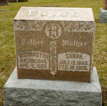 BOYCE, SARAH - Richland County, Ohio | SARAH BOYCE - Ohio Gravestone Photos